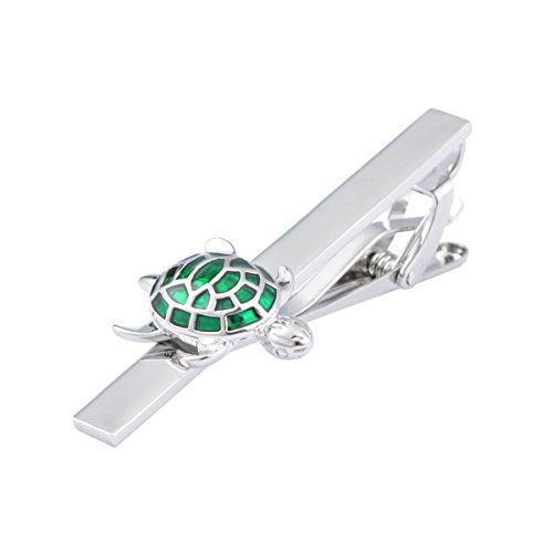 JAOPNZA Classic Cute Turtle Tie Clip Personalized Men's Tie Bar Clip Gift Set,Green by JAOPNZA (Image #2)