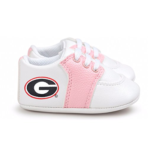 Future Tailgater Georgia Bulldogs Pre-Walker Baby Shoes - Pink Trim - Georgia Bulldogs Baby Blanket