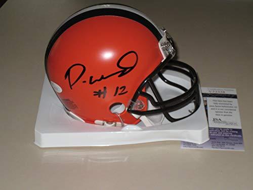 Denzel Ward  12 signed Cleveland Browns Mini Helmet JSA COA Ohio State  Buckeyes OSU ac8edd49d