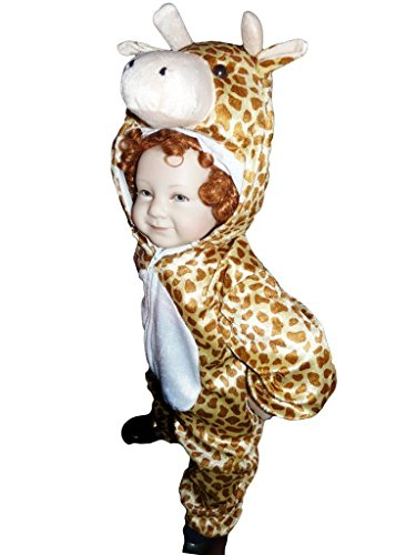 12 Month Old Costume Ideas (Fantasy World Giraffe Halloween Costume f. Toddlers, Size: 12-18mths, J24)