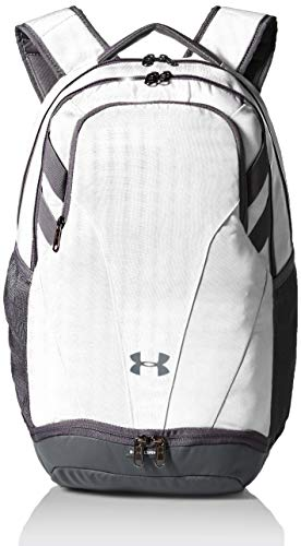 Under Armour Team Hustle 3.0 Backpack, White (100)/Gray, One Size Fits All (Under Gray Backpack Armour)