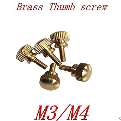 Screws 10pcs m3 M4 Brass knurled Step Thumb Screw - (Size: m4, Length: 10mm): Amazon.com: Industrial & Scientific