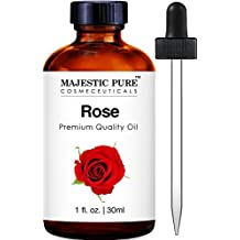 Majestic Pure Rose Oil Absolute, Premium Quality, 1 fl Oz