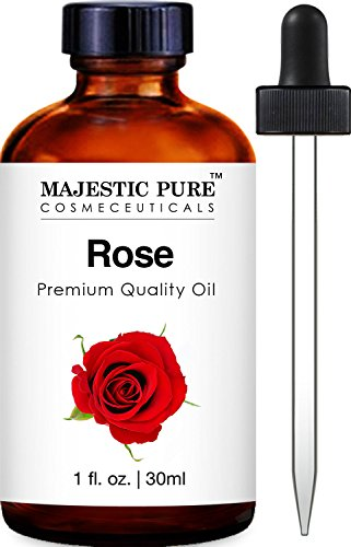 Majestic Pure Rose Oil Absolute, Premium Quality, 1 fl Oz (Rose Essential Oil Pure)