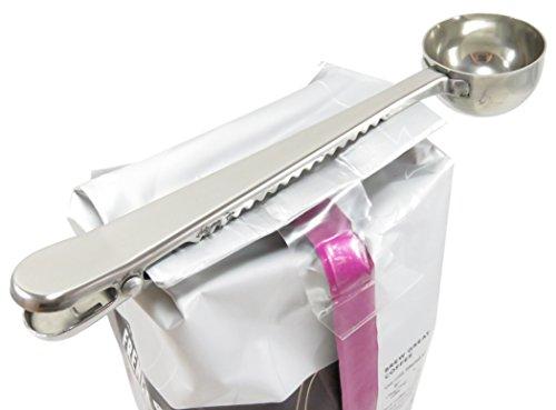Coffee Measuring Spoon Bag Clip 6 1/2