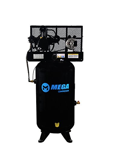 6.5 HP MegaPower Vertical Air Compressor, 1 Phase, 80 Gallon, 2 Stage, MP-6580V