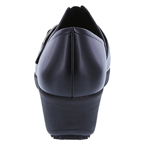 Clog Resistant Women's Slip Black safeTstep Gretchen Buckle nxOwpS