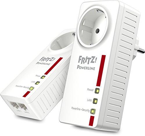 AVM FRITZ! Powerline 1220E Set (1.200 MBit/s, 2 x Gigabit-LAN je Adapter, ideal für NAS-Anwendungen und HD-Streaming)