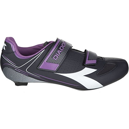 Diadora Phantom II Cycling Shoes – Women's Dk Smoke/White/Violet Orchid Iris, 40.0 Review