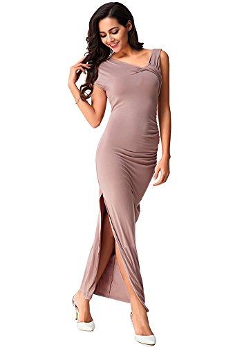 Long Side Women's Package DOOXILADY Split Dress hip Sexy Khaki 4xY6An1p