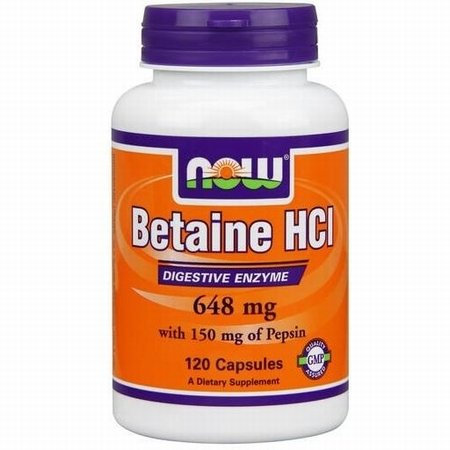 NOW Foods Betaine HCl Capsules