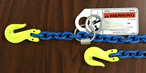 Fulcrum Lifting, 3/8''x 16ft., Grade 100 Alloy Chain Sling with Clevis Grab Hooks