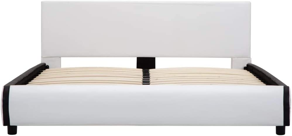 Giroletto Matrimoniale Tidyard Letto Matrimoniale con Contenitore Letto Matrimoniale Bianco Moderno in Similpelle 160x200 cm