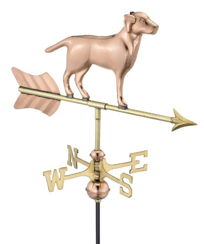 [Good Directions Labrador Retriever Garden Weathervane with Garden Pole, Pure Copper] (Animal Weathervanes)