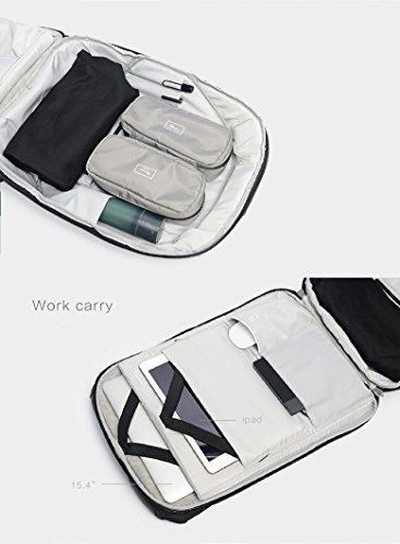 Mochila ClickPack Diseño de Korin, mochilas para portátil de negocios Bolso de viaje anti ladrón se adapta hasta 15,4 pulgadas Macbook (versión completa, negro) Mochila sólo, gris