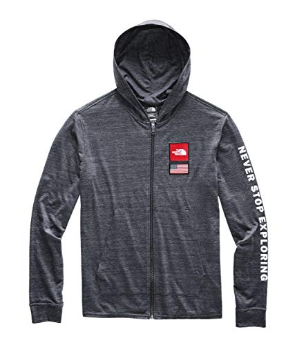 - The North Face Men's Americana Tri-Blend Full Zip Hoodie, Urban Navy Heather, Size M