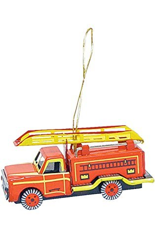 (Alexander Taron Home Decoration Collectible Tin Ornament - Fire Truck - 1.5H x 1.25W x 3.25D by Alexander Taron)