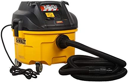 DeWalt Industrile nat en droogzuigerbouwstofzuiger 1400 watt met automatische filterreiniging klasse L tweefiltersysteem incl AirLockadapter en zuigzak DWV901L