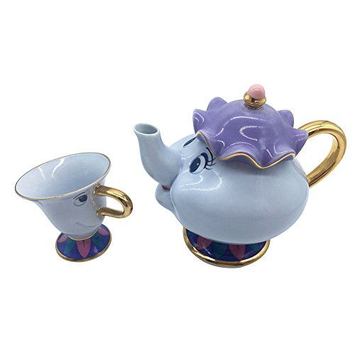 blissun Beauty and the Beast Mrs. Potts Chip Teapot and Cup for drinkware (Teapot+Teacup) -