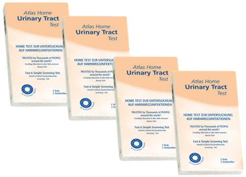 Atlas Urinary Tract Infection Test - Bundle of 4 Boxes includes 2 Tests per Box