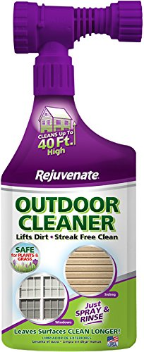 Rejuvenate Outdoor Window Spray and Rinse Cleaner with Hose End Adapter, 32 oz, -