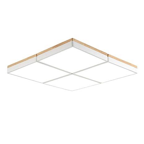 Amazon.com: Lámpara de techo de madera LED de 12 W para ...
