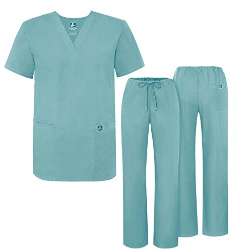 Adar Universal Medical Scrubs Set Medical Uniforms - Unisex Fit - 701 - SUB - Outlet Polo Alabama