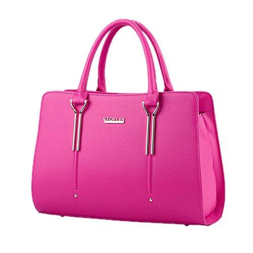 Main Business Minimaliste Grande Capacité Sac De Couleur Rose Femme DELEY Rouge Chic À Sac Bonbons Style 0PRSUS1c7