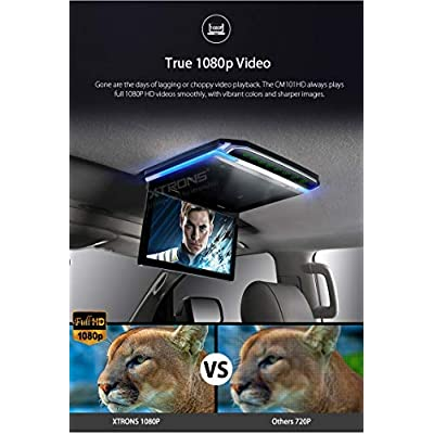 XTRONS 10.2 Inch Digital TFT Screen 1080P Video Car Overhead Player Roof Mounted Monitor HDMI Port White New Version IR Headphones: MP3 Players & Accessories
