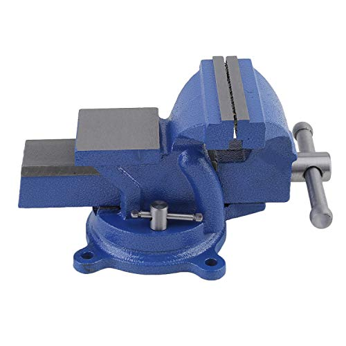 CNMODLE 100mm Jaw Width Bench Vise 360 Degree Swivel Base Workshop Clamp 4 ()