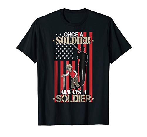 US Veteran T-Shirt - Once a Soldier, Always a Soldier
