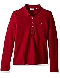 Lacoste Womens Slim Fit Long Sleeve Stretch Mini Piqué Polo