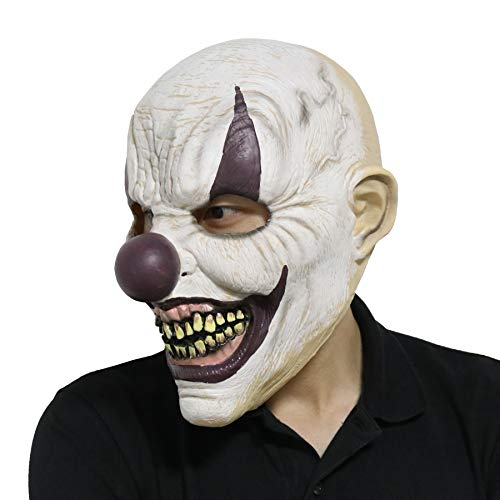 LarpGears Novelty Halloween Costume Party Horror Funny Clown Mask for Adults -