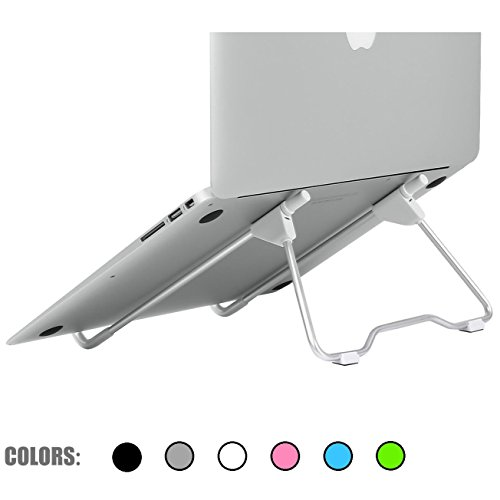 SACVON Laptop Stand,Foldable,Portable,Stable,Adjustable Height Width & Angle,for Laptop/MacBook/Notebook/ipad/Light Weight Folding Aluminum Stand-White