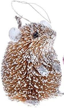 Super Cute Hedgehog Christmas Snowy Hedgehog Decoration Ornament