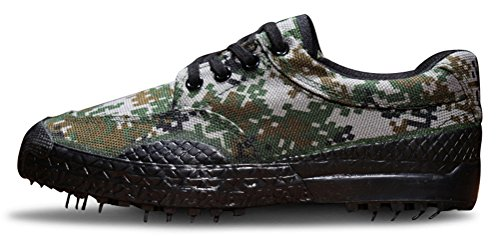 Army Shoes Men Camouflage, Antiskid Lace up Canvas Shoe Work Military Use 2 Colors Size 6-9 Green