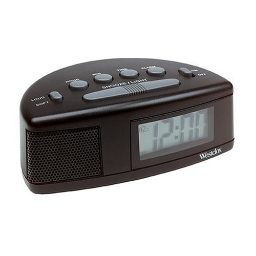 Westclox Tech 47547 Super Loud Alarm Clock (I Sound Time Travel Alarm Clock)