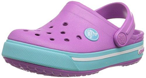 crocs Crocband II.5 Clog (Toddler/Little Kid), Wild Orchid/Pool, 2 M US Little Kid