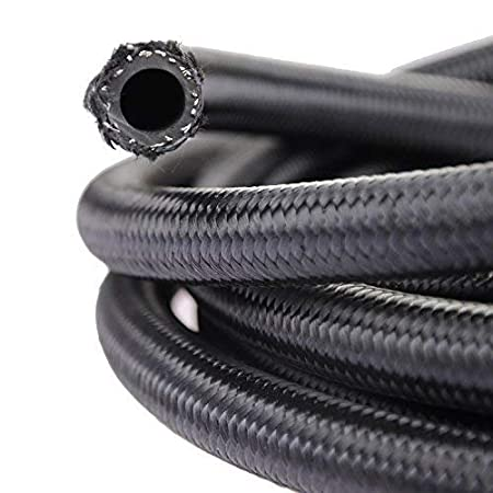theBlueStone 20FT 6AN Nylon Braided Fuel Line Hose for 3//8 Tube Size