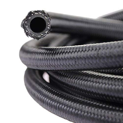 theBlueStone 20FT -8AN Nylon Braided Fuel Line Hose for 1/2