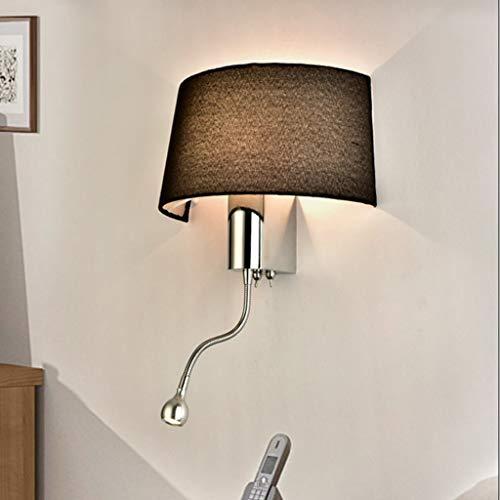 Nickel Matt Ceiling Pendant - Wall-Mounted Light Modern Simplicity Bracket Light/Wall Hanging Lamps Led Bedside Reading Light Hotel Parlour Bracket Light/Wall Hanging Lamp, Table Lamp/Task Light E27 Lighting Fixture (Color : Blac
