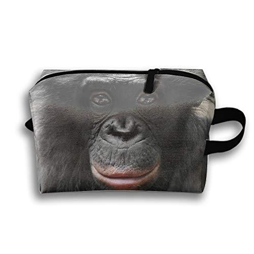 Cosmetic Bag Zipper Storage Bag Portable Ladies Travel Animal Bonobo Monkeys Makeup Bag