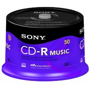 Disc, CD-R 80 min, branded, Music, 50/pk Spindle [Non - Retail Packaged]