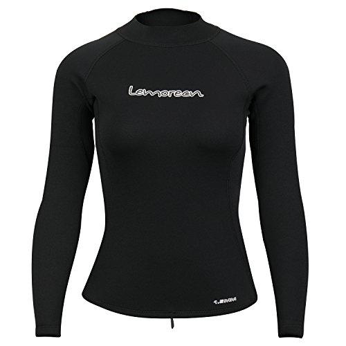 Lemorecn Wetsuits Women's 1.5mm Pullover Jacket(2061black8) ()