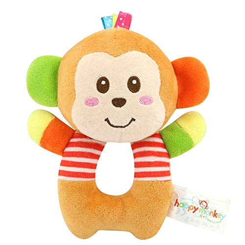 BBSTORE Soft Rattle Toy Monkey Baby Rattle Toys Nontoxic for Newborn Baby Toddlers Infant Imagination and Early Education Gift for Boys and Girls for Over 0 Months ()