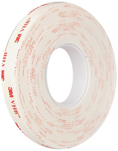 3M – 1/2-5-4950 VHB 4950 Heavy Duty Mounting Tape – 0.5 in. x 15 ft. Permanent Bonding Tape Roll with Acrylic Foam Core. Tapes and Adhesives