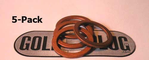 3/4' Copper Crush Washer SW-09 - 5-Pack GoldPlug