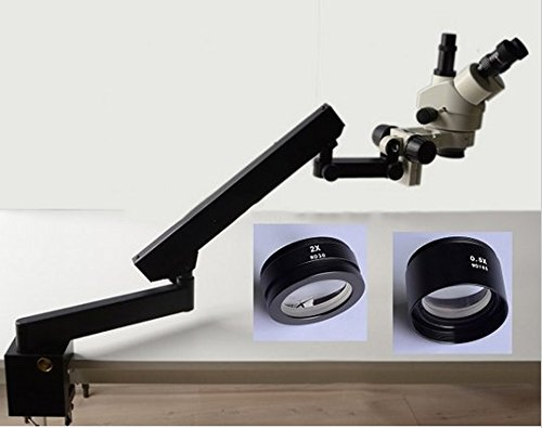 GOWE 3.5X-90X STEREO ZOOM MICROSCOPE+ARTICULATING STAND Arm Base+SZM0.5X WD165mm+SZM2.0X WD 30mm+10X Eyepieces Microscope Accessories Review