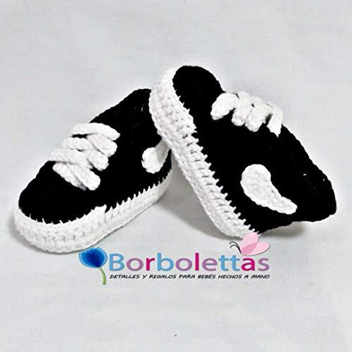 Patucos para Bebé Recién Nacido tipo Nike, 0-3 meses Negras ...