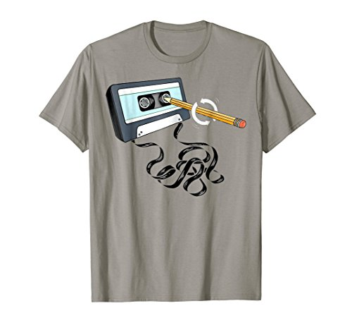 Cassette Tighten with Pencil 80s T-shirt for Men or Women, many colors
